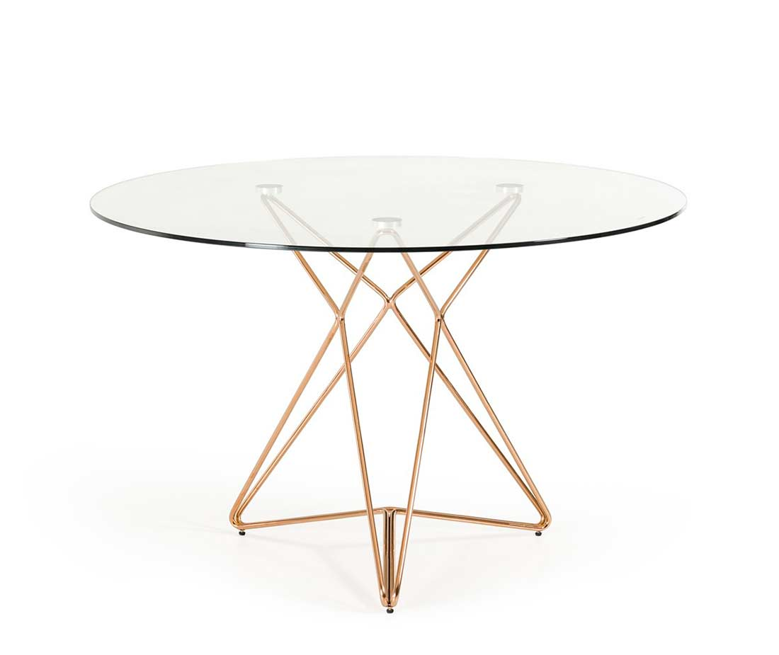 Glass top dining table vg 816 modern dining for Contemporary glass top dining table
