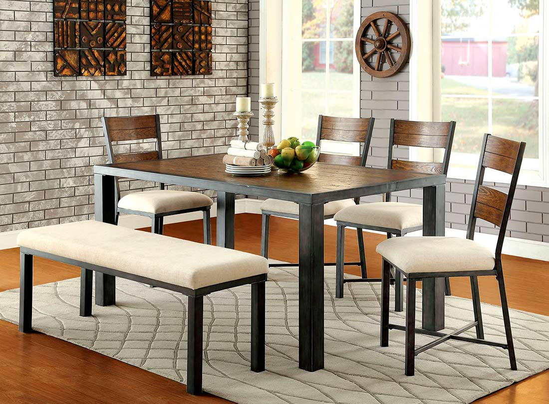 Transitional dining table fa urban