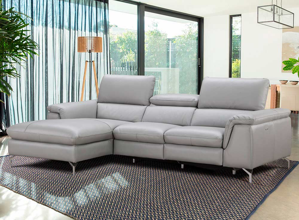 Italian Leather Power Recliner Sectional sofa NJ Saveria ...