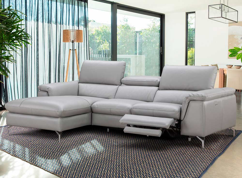 Italian Leather Power Recliner Sectional sofa NJ Saveria | Leather ...