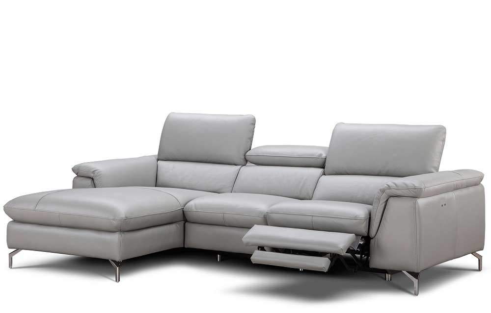 Italian Leather Power Recliner Sectional Sofa Nj Saveria
