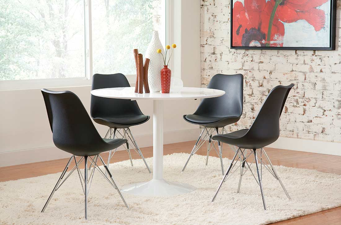High gloss white dining table co261 urban transitional for White high gloss dining table
