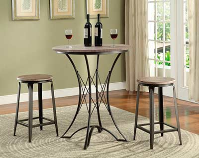 Counter Top Table and Stools set CO006