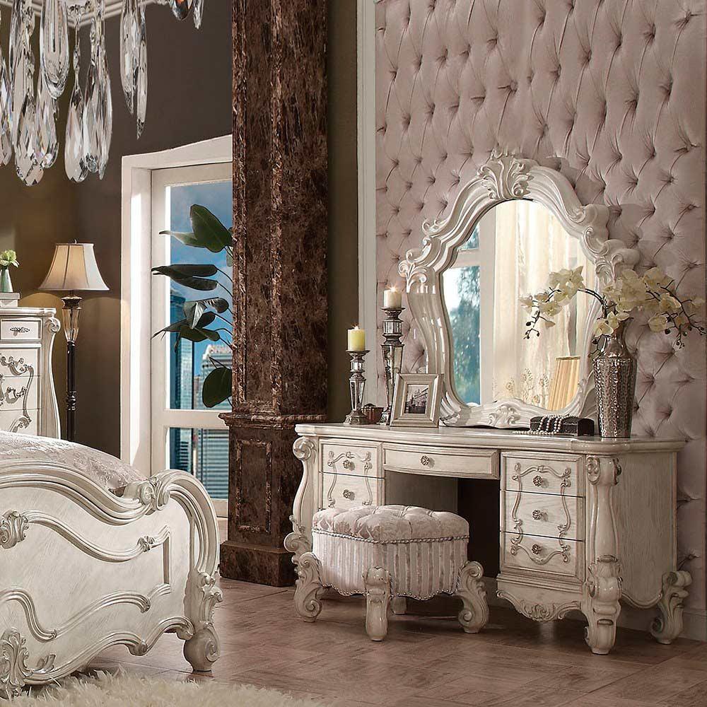 Bone White Vanity Set AC 137 | Bedroom Vanity Sets
