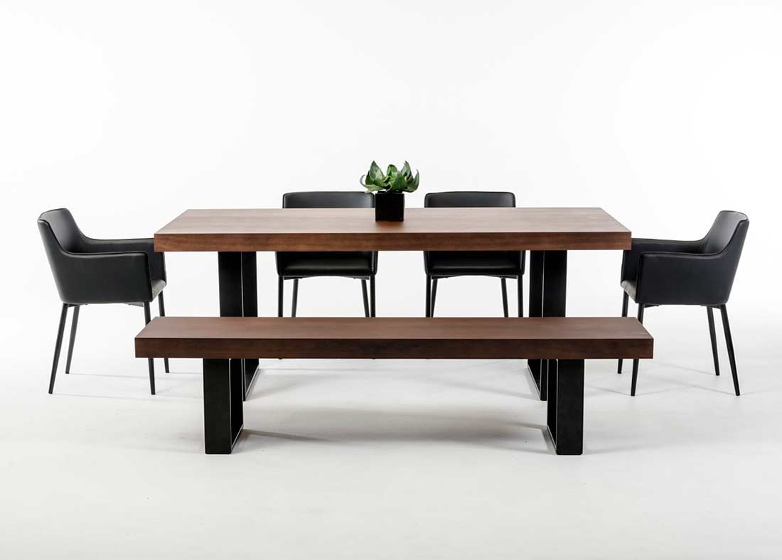 modern wenge walnut dining table vg508 modern dining. Black Bedroom Furniture Sets. Home Design Ideas
