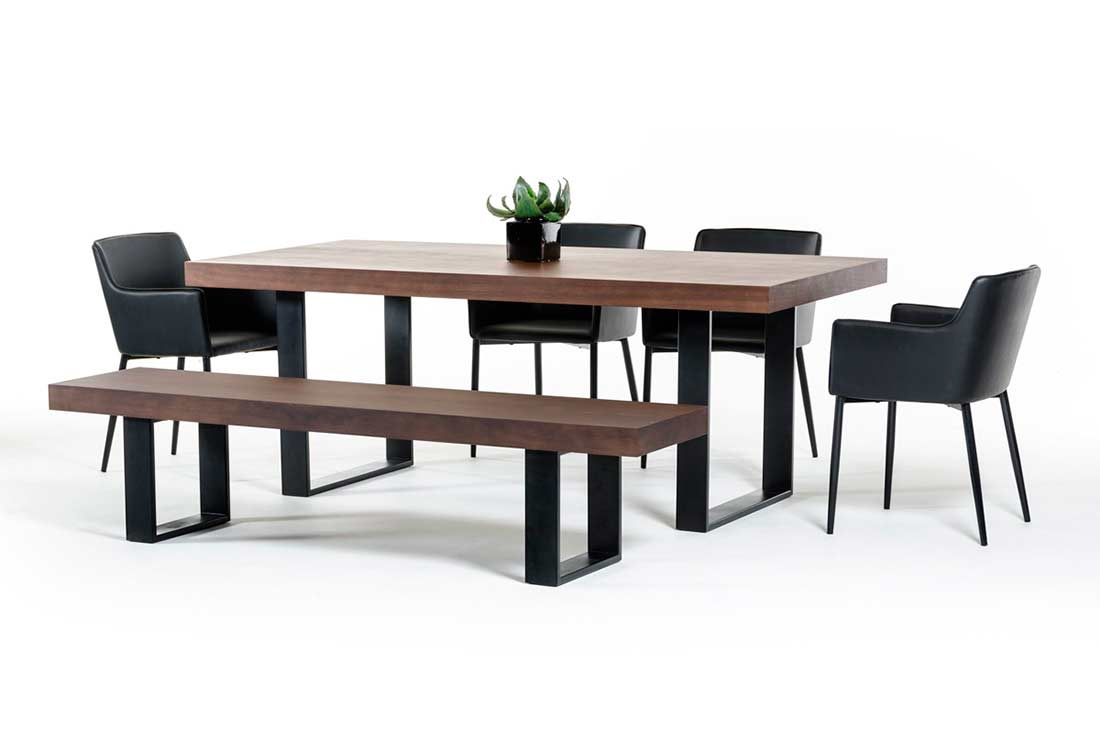 Modern wenge walnut dining table vg508 modern dining for Walnut dining chairs modern