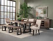 Natural and Black Dining Table AF 011