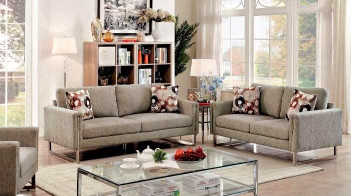 Chenille Fabric Sofa FA855