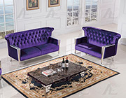Purple Fabric Sofa Collection
