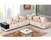 Cream Velvet Sectional Sofa AE36