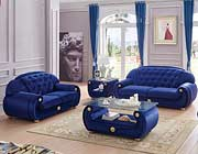 Dark Blue Fabric Sofa EF Gretel