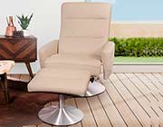 Top Grain Leather Recliner Chair with Ottoman NP 102