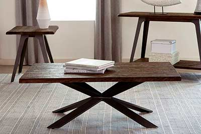 Dark Rustic Coffee Table CO 818