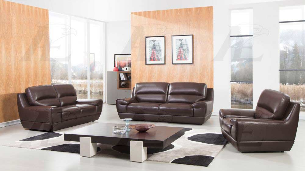 Brown Italian Leather Sofa Set Aek 018 Leather Sofas