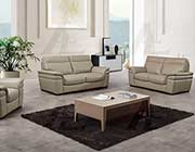 Tan Italian leather sofa set AEK 020