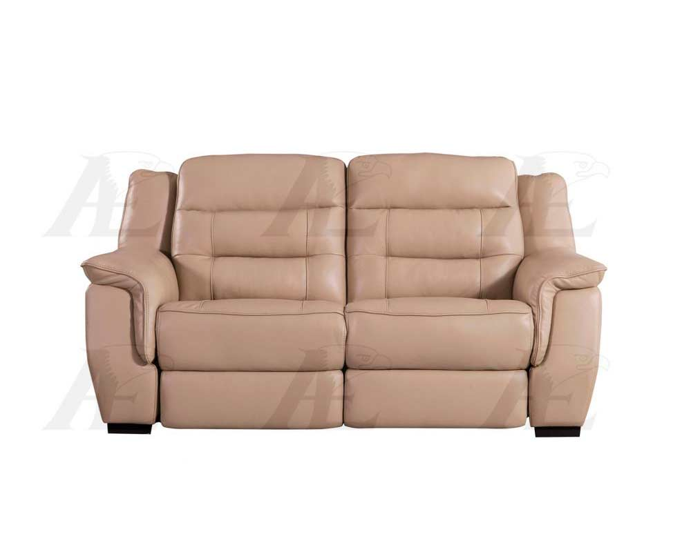 Tan Electric Recliner Sofa Aek 089