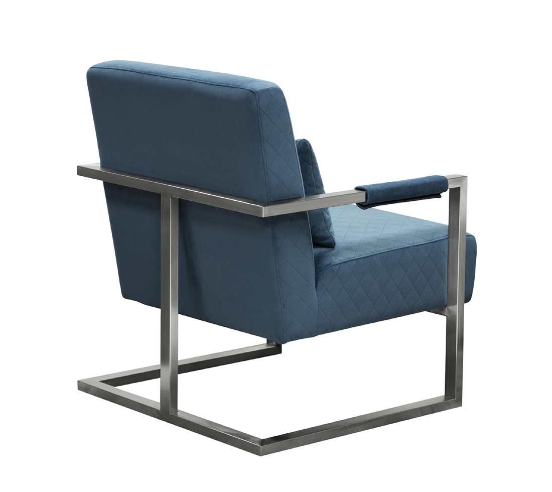 blue velvet accent chair. Blue Velvet Accent Chair DS Estudio