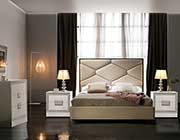 Beige Bed with Storage EF Marina