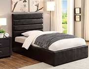 Kids Black Leatherette Storage bed CO 469