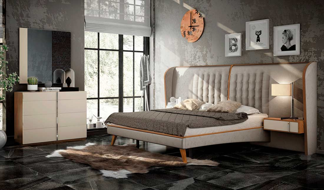 Ultra Modern Cream Bed Ef Arise Modern Bedroom Furniture