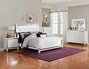 Brilliant White Bed with Led Light HE Alvina