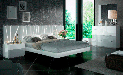 Bed with LED lighting EF Rhoda