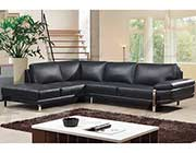 Black Leather Sectional Sofa AE 025