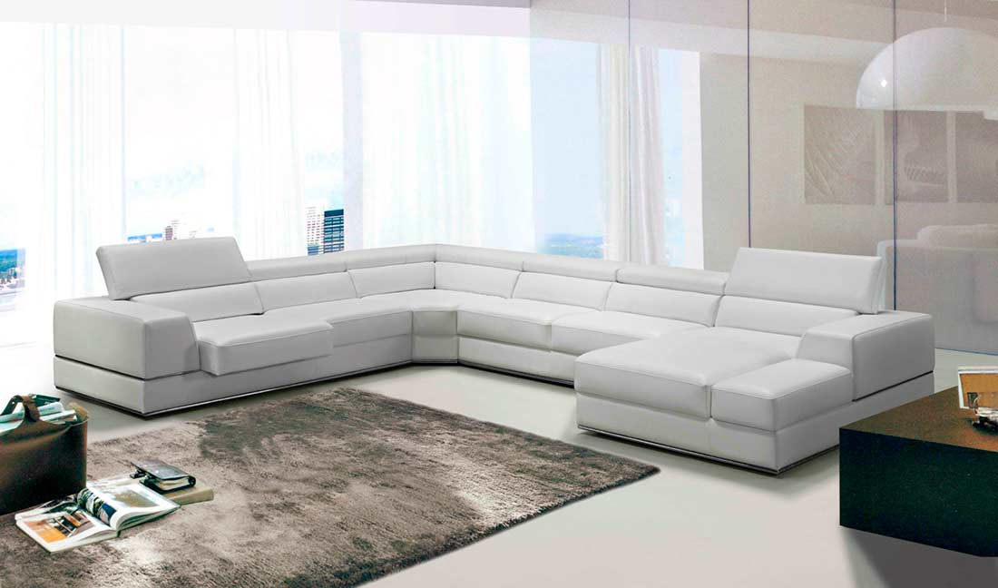 Prime White Bonded Leather Sectional Sofa Vg 106 Leather Dailytribune Chair Design For Home Dailytribuneorg