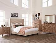 Transitional Bed in Beige Fabric CO705