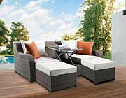 Outdoor Patio Sofa with 2 Ottomans AC 010