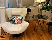 White Leather Accent Chair K86