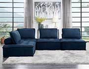 Blue Fabric Modular Sectional Sofa 545