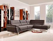 Brown Fabric Sectional Sofa VG 260