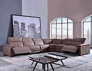Tan Leather sectional sofa AE 303