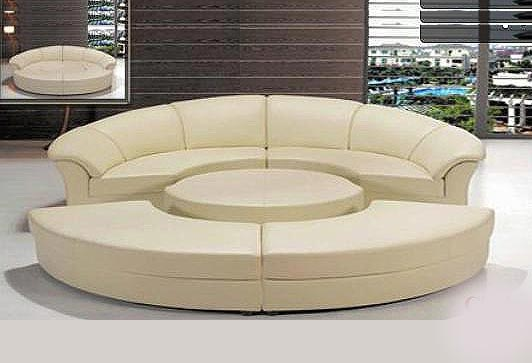 Round Sofa Sleeper 43 Leather Sectionals