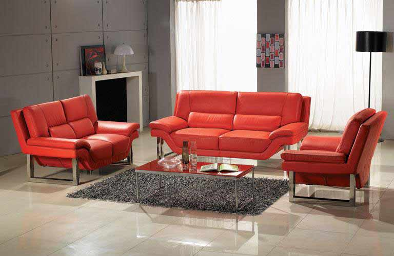 red nicole leather sofa set leather sofas