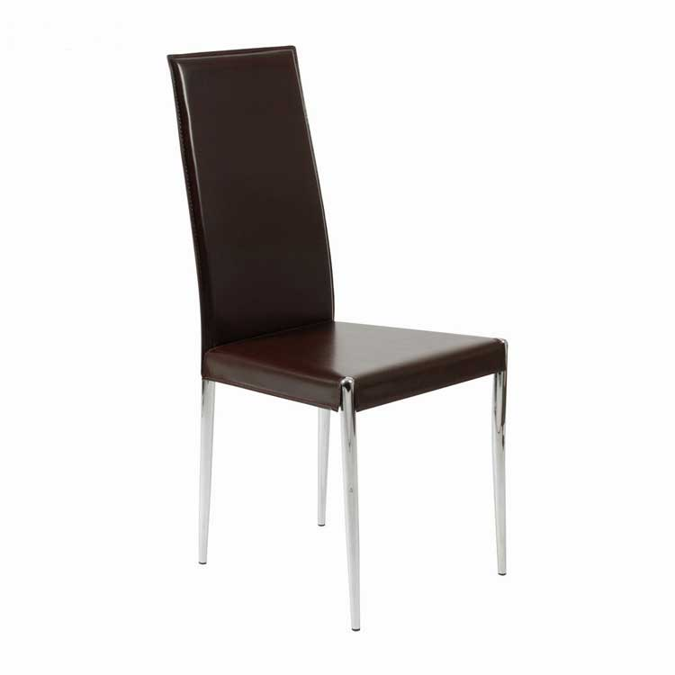 Luxury rosina leather dining chair modern chairs for Modern leather chair