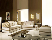 Italian Leather Sectional Sofa Vcal 13