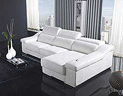 HE 876 Contemporary Leather Sectional Sofa