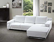 Leather sofa Sectional White Aristo