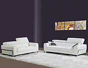 Cindy white leather sofa BL 12